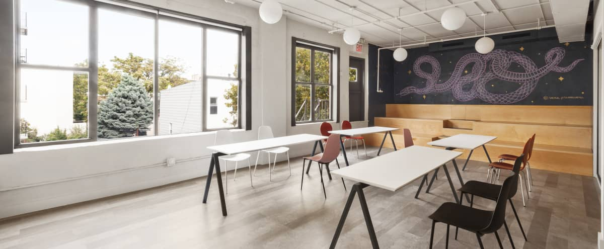 Sunny Well-Designed East Williamsburg Gem with outstanding marble kitchen in Brooklyn Hero Image in Williamsburg, Brooklyn, NY