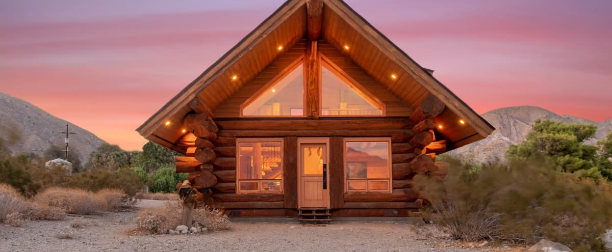 A Log Cabin in California Desert in Whitewater Hero Image in undefined, Whitewater, CA