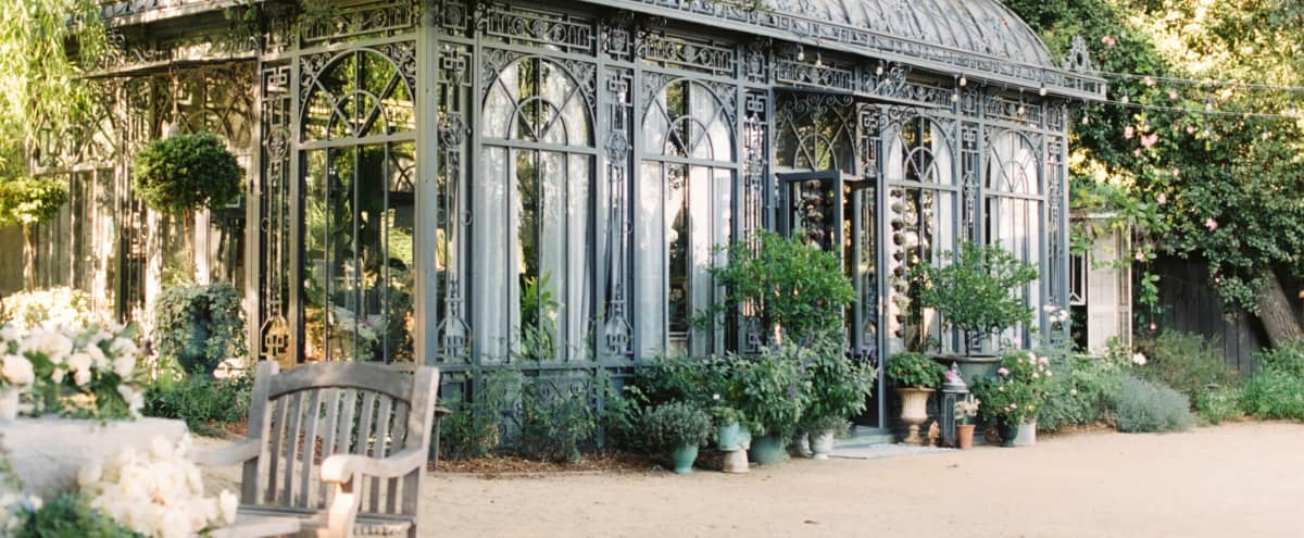 European Gardens and Glass Conservatory in Sierra Madre Hero Image in undefined, Sierra Madre, CA