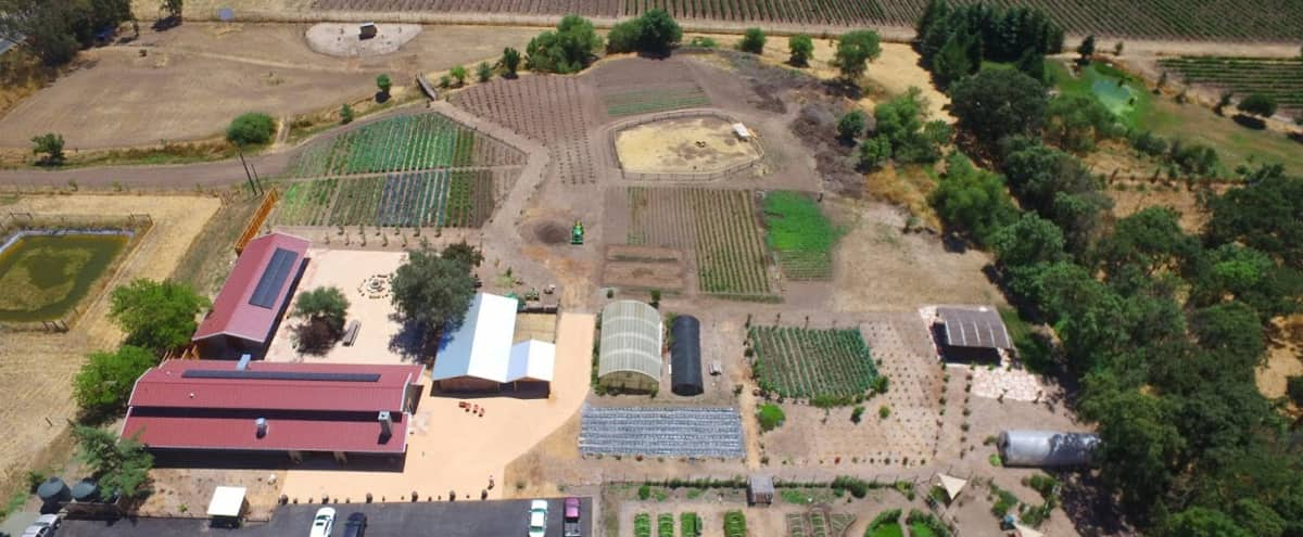 6 acre Corp event space, industrial kitchen, chef, large meetings spaces, pig roasts in Sonoma Hero Image in undefined, Sonoma, CA