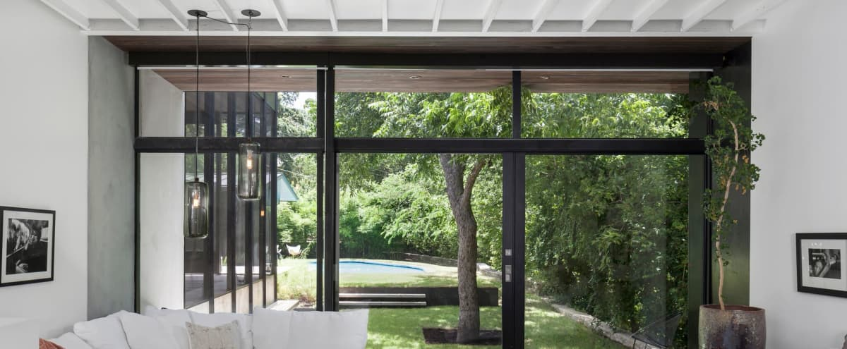 Suburban modern house with pool in the foothills 10 min to downtown. in Austin Hero Image in Highland Park West, Austin, TX