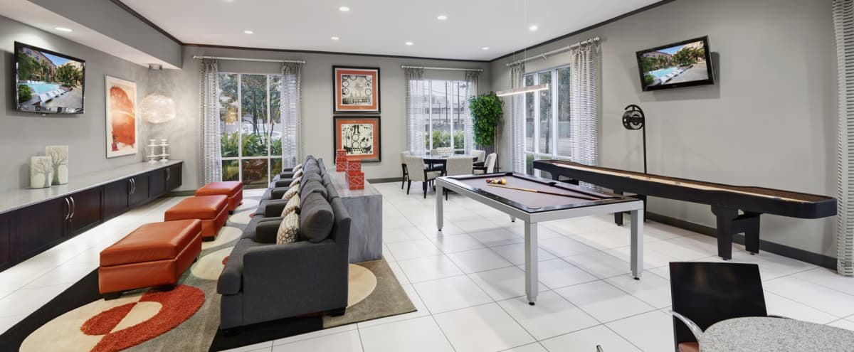 Spacious Event Space with Lounge Seating, Gourmet Kitchen, and Games for Entertaining in Houston Hero Image in Midtown, Houston, TX