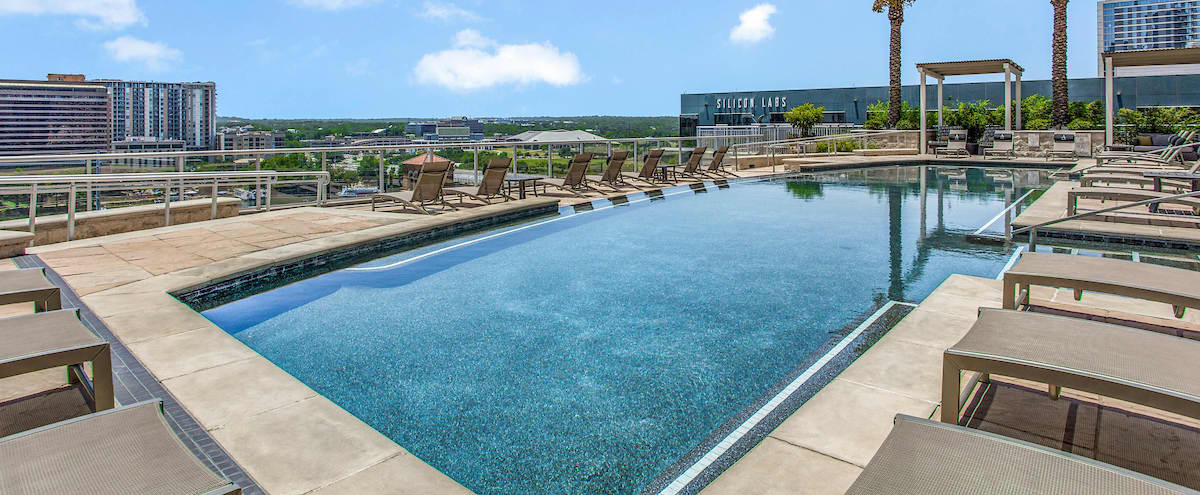Rooftop Pool with a View in Austin Hero Image in Downtown, Austin, TX
