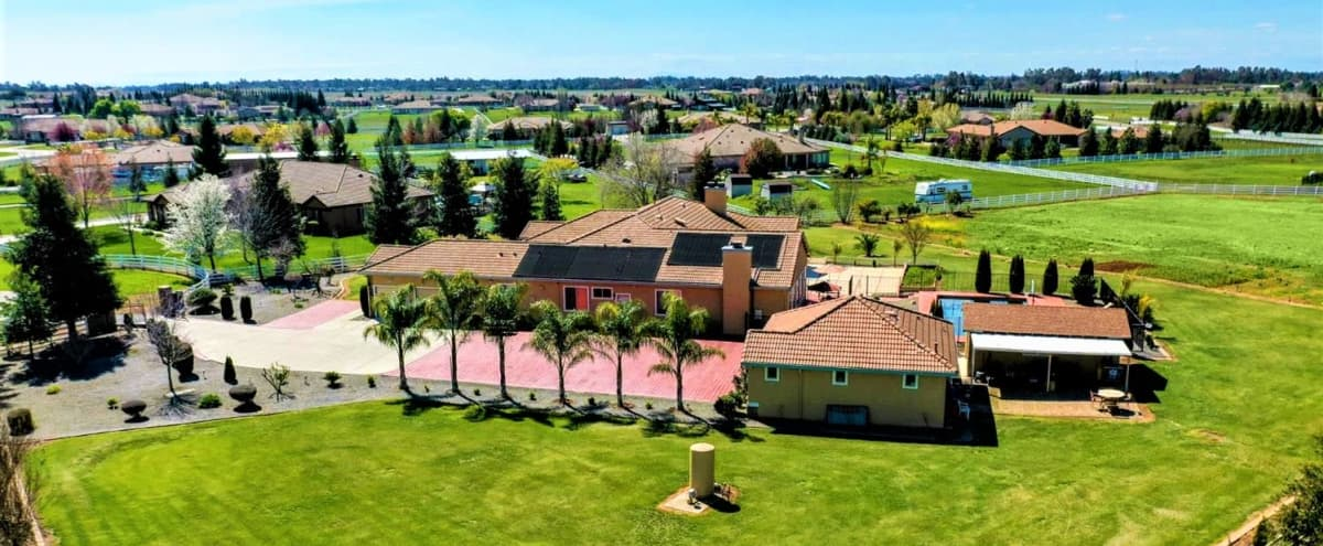 Sacramento Area, Lotus Ranch Estate. 50 guests, 3 acres, Pool, Guest House, Patio, Lots of parking. in Wilton Hero Image in Clay Station, Wilton, CA