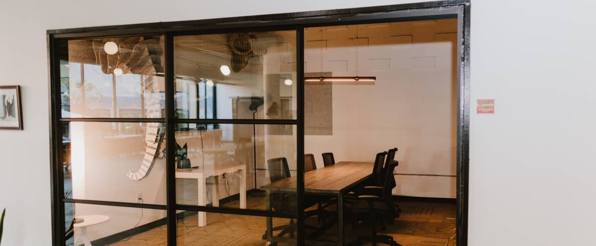 8 Person Meeting & Conference Room in Industrial Coworking Space in Dallas Hero Image in South Dallas, Dallas, TX