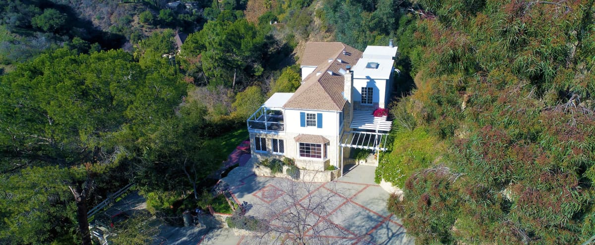 TREE TOP Estate Surrounded by Nature and Canyon Views in Beverly Hills Hero Image in undefined, Beverly Hills, CA