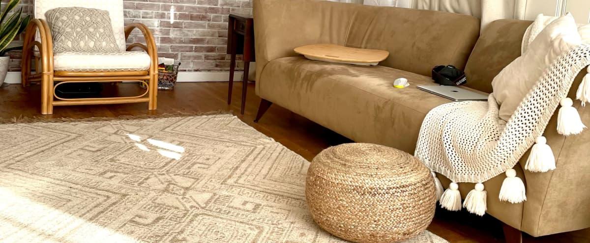 Boho-Vibe Brick Room in RVA Home in Richmond Hero Image in Gravel Hill, Richmond, VA