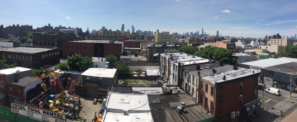 Penthouse with two rooftops and skyline view in Brooklyn Hero Image in Bedford-Stuyvesant, Brooklyn, NY