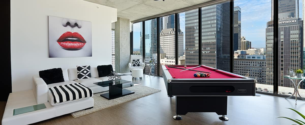 DTLA Vip Sky Pool Table Penthouse in Los Angeles Hero Image in South Park, Los Angeles, CA