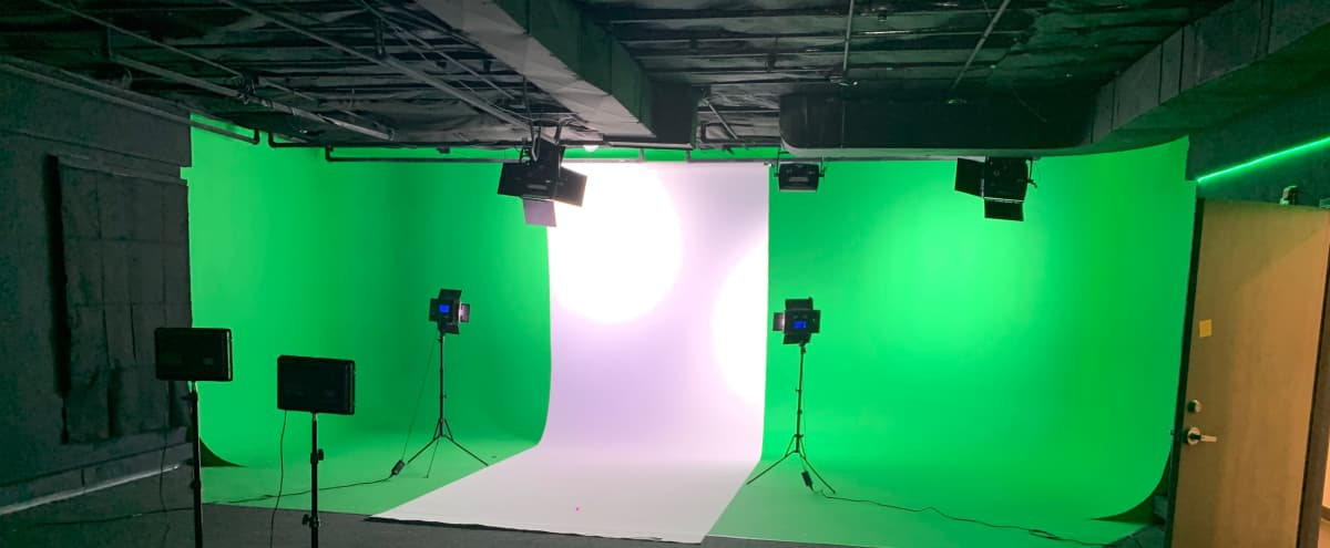 Film Studio with Cyc/Green Screen. Pod Cast Room with Equipment in Montrose Hero Image in Montrose Verdugo City, Montrose, CA
