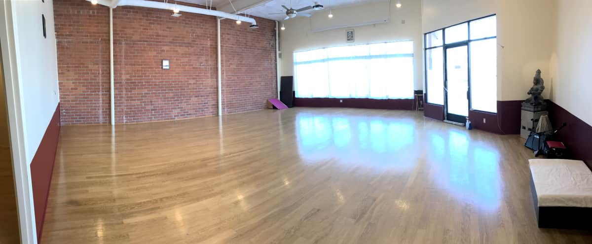 Spacious Yoga Studio with Natural Light and Interior Brick Wall in Culver City Hero Image in Clarkdale, Culver City, CA
