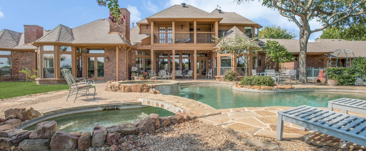 Multi-Functional Lakeside Country Estate on 50 acre Working Equestrian Center in Weston Hero Image in undefined, Weston, TX