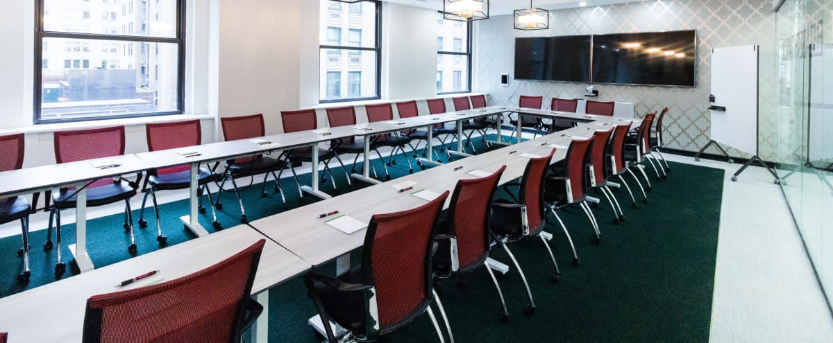 Elizabeth Taylor Room- 35% Discount Awesome New Private 60 person Windowed Conference Room-Midtown East in New York Hero Image in Midtown Manhattan, New York, NY