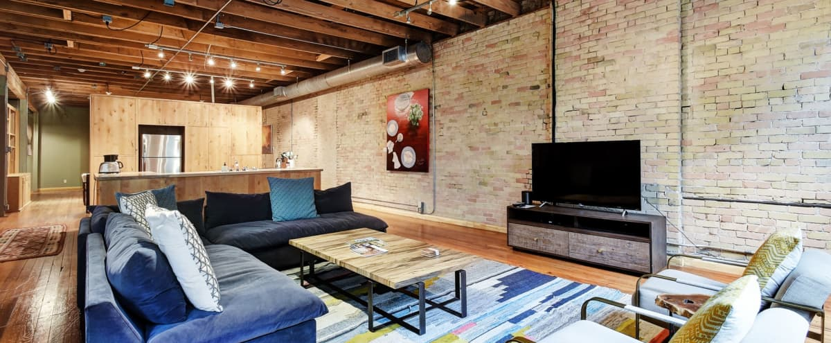 Historic Downtown Loft | Exposed Brick Walls | Industrial Vibe in Austin Hero Image in Downtown Austin, Austin, TX