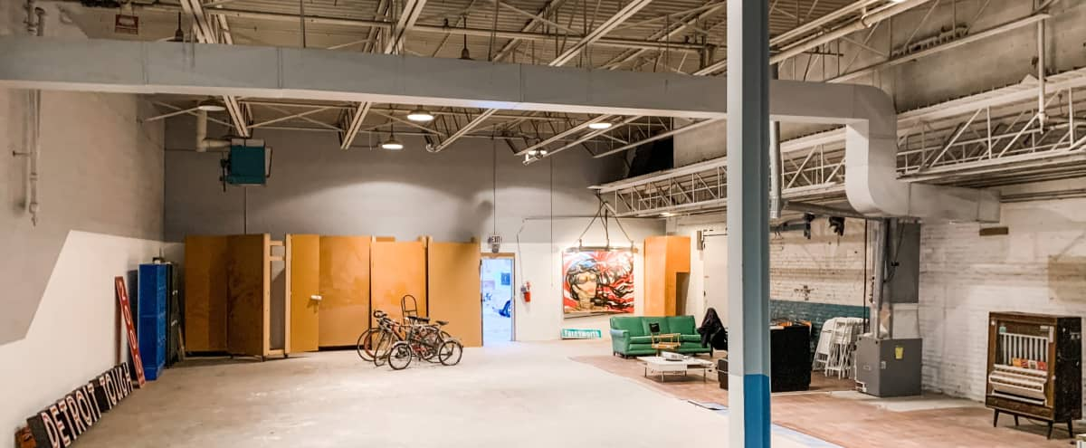 Massive Industrial Warehouse in Heart of Detroit   6000 sq ft for Video Shoots   Easy Load-in   Garage Entry in Detroit Hero Image in Corktown, Detroit, MI