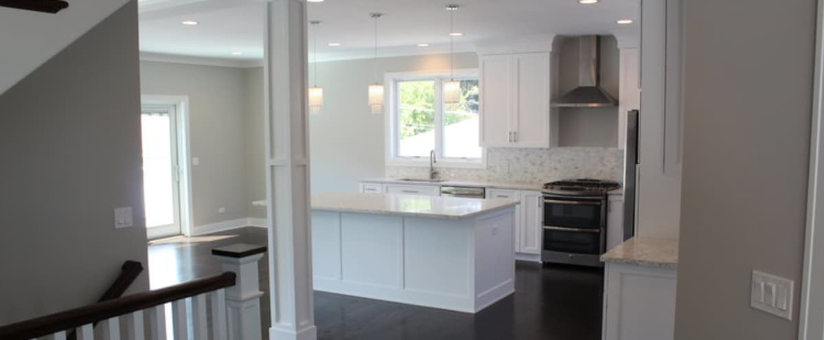 Newly Built Modern Open Concept Home in Chicago Hero Image in Mount Greenwood, Chicago, IL