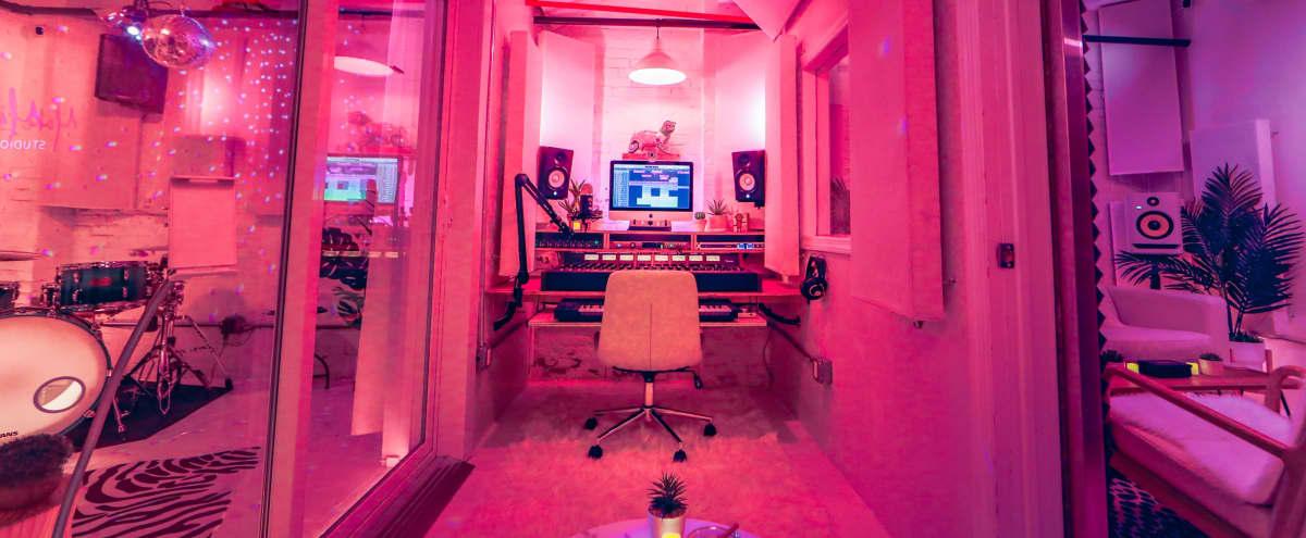 Japandi Inspired Studio w/ Lush Tropical Vibes in Brooklyn Hero Image in Clinton Hill, Brooklyn, NY