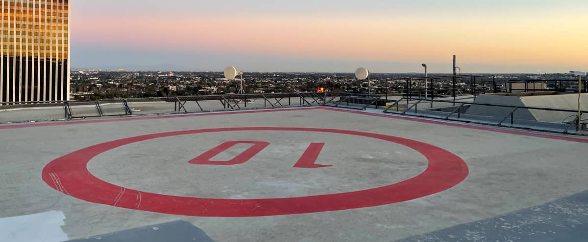Rooftop Helicopter Pad on Top of West Hollywood (Fairfax and Wilshire) in Los Angeles Hero Image in Central LA, Los Angeles, CA