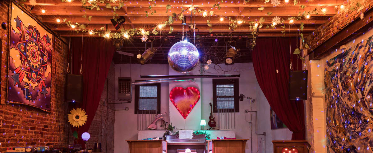 Magical Music Venue with 70's Retro Future Decor. in Brooklyn Hero Image in Crown Heights, Brooklyn, NY