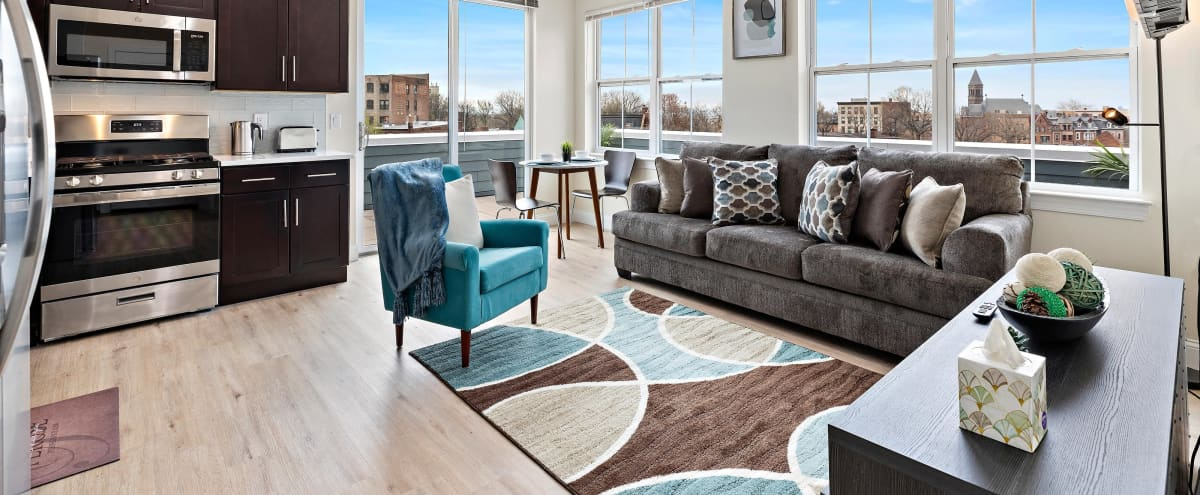 Private Rooftop Terrace Featuring Panoramic Views Of Downtown Newark And The New York City Skyline in Newark Hero Image in South Broad Street, Newark, NJ