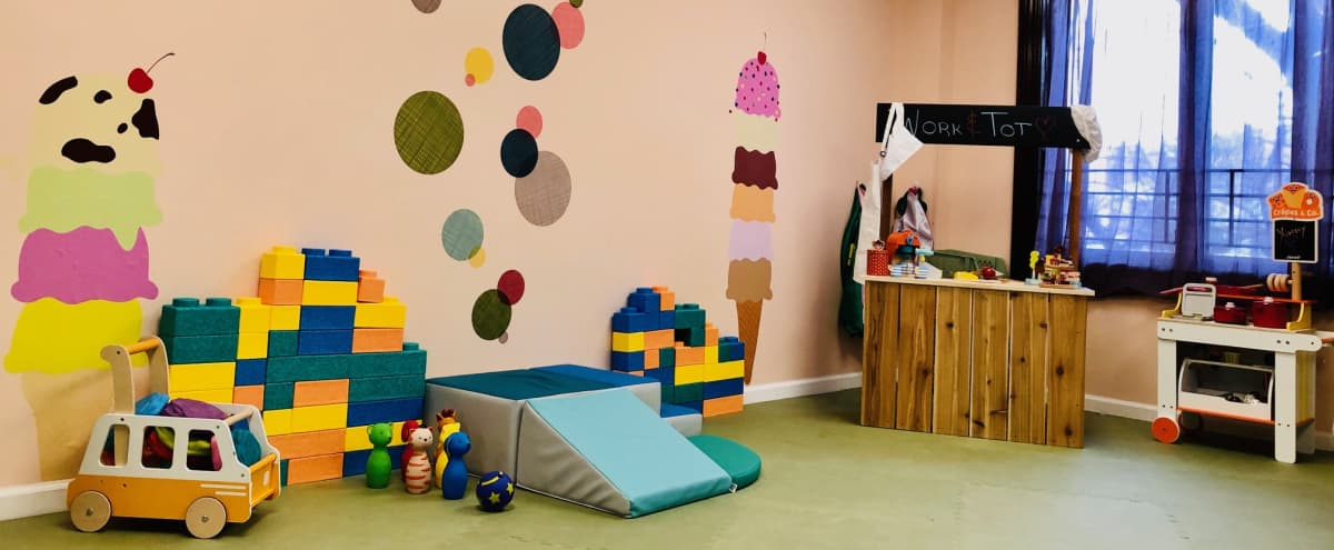 Unique Co-Working & Play-Care Space in Queens, Ready to Host your next Event, Gathering, Workshop, Meeting, Presentation (Childcare For Up To 6 Kids 3-7yrs old Included) in Rego Park Hero Image in Rego Park, Rego Park, NY