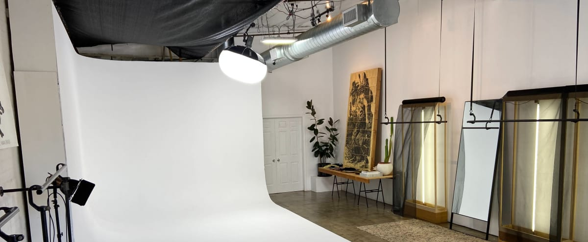 Ground Level DTLA Studio Space with Cyc Wall and Optional Natural Light in Los Angeles Hero Image in South Los Angeles, Los Angeles, CA