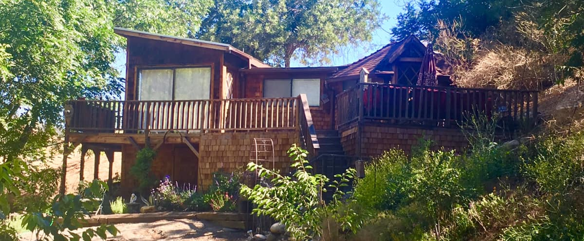 1920's Romantic Artists' Cottage with Deck & 360° Views in Topanaga Hero Image in undefined, Topanaga, CA