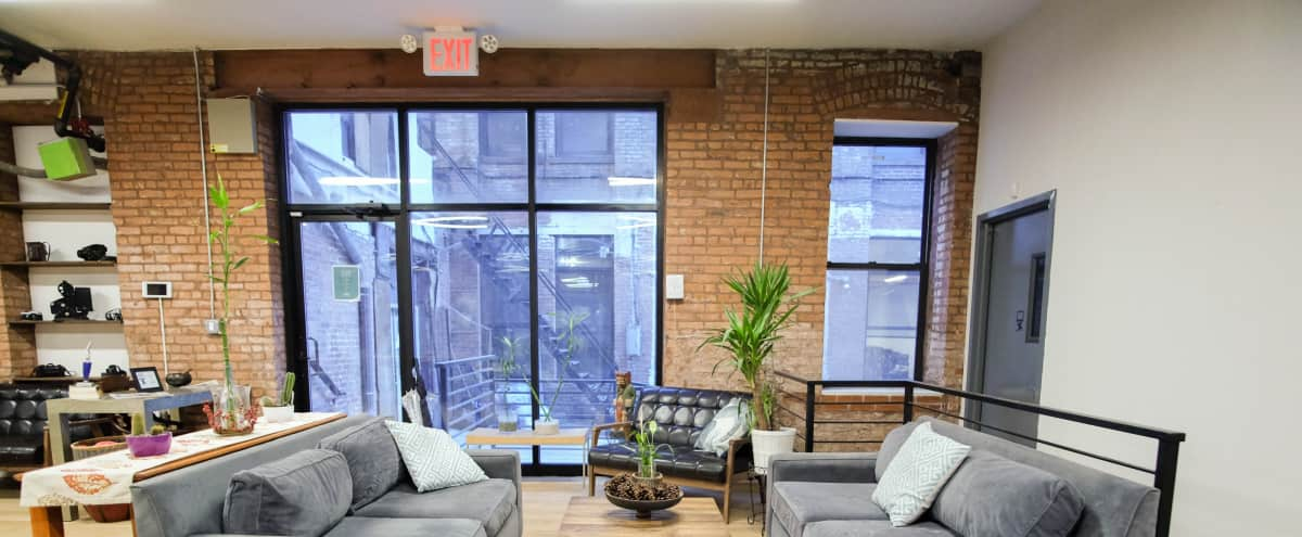 Loft Office with Exposed Brick in New York Hero Image in Midtown, New York, NY