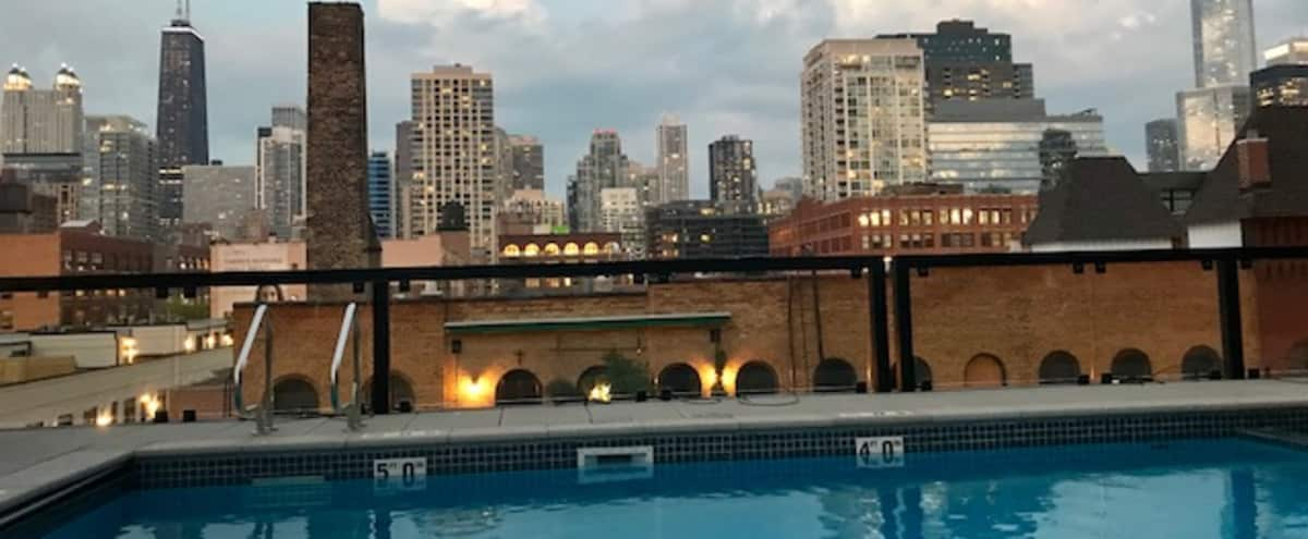 Downtown condo with skyline view and pool. in CHICAGO Hero Image in Near North Side, CHICAGO, IL