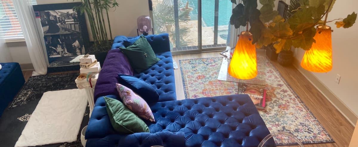 Mystical Jewel Toned Studio with Pool View in Dallas Hero Image in Deep Ellum, Dallas, TX