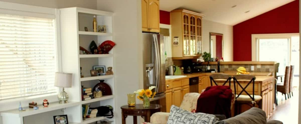 Natural Light, High Ceilings with Private Deck & back yard, Free Parking in VENICE Hero Image in Venice, VENICE, CA