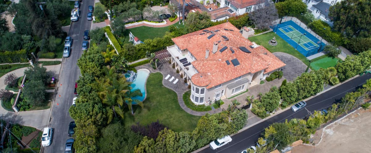 Luxurious Gated Estate on 27k Sq Ft in Los Angeles Hero Image in Brentwood, Los Angeles, CA