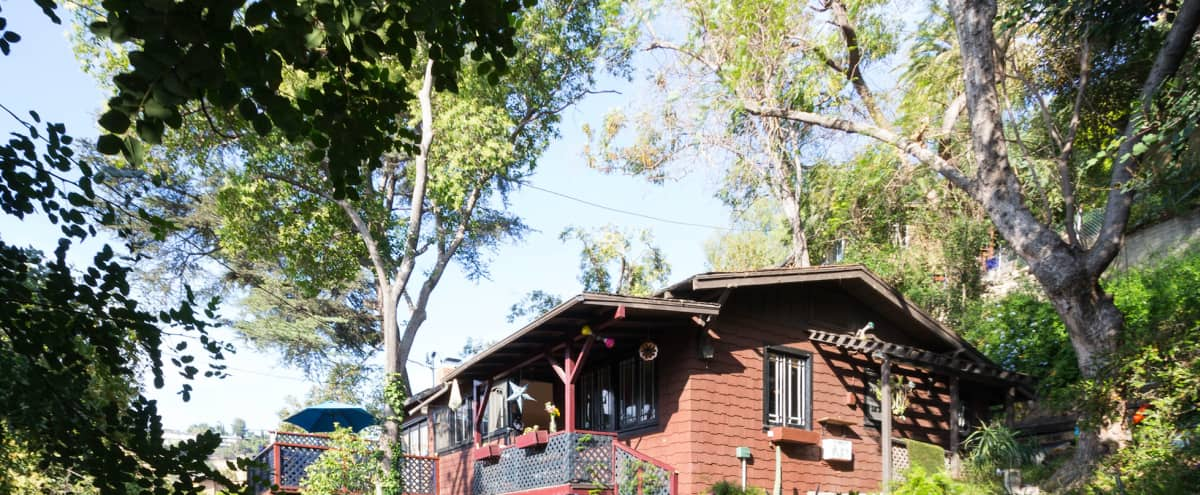 2 looks in 1: Vermont cottage in the woods with period rustic elements or modern ecolodge feel. in Los Angeles Hero Image in Northeast Los Angeles, Los Angeles, CA