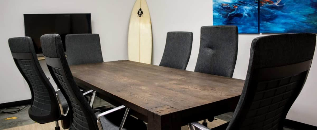Surfboard Themed Conference Room in Exquisitely Designed Coworking Space in Boston Hero Image in Hudson, Boston, MA