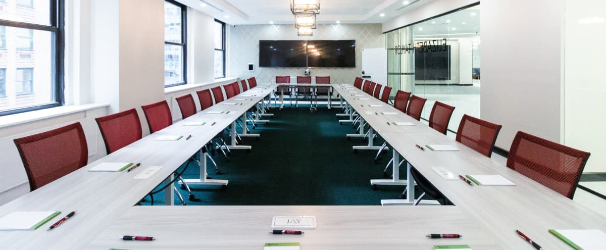 35% Discount Awesome New Private 60 person Windowed Conference Room-Midtown East in New York Hero Image in Midtown Manhattan, New York, NY
