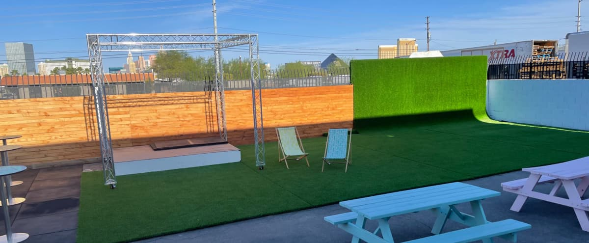 Outdoor Studio with Strip Views and Grass CYC in Las Vegas Hero Image in undefined, Las Vegas, NV