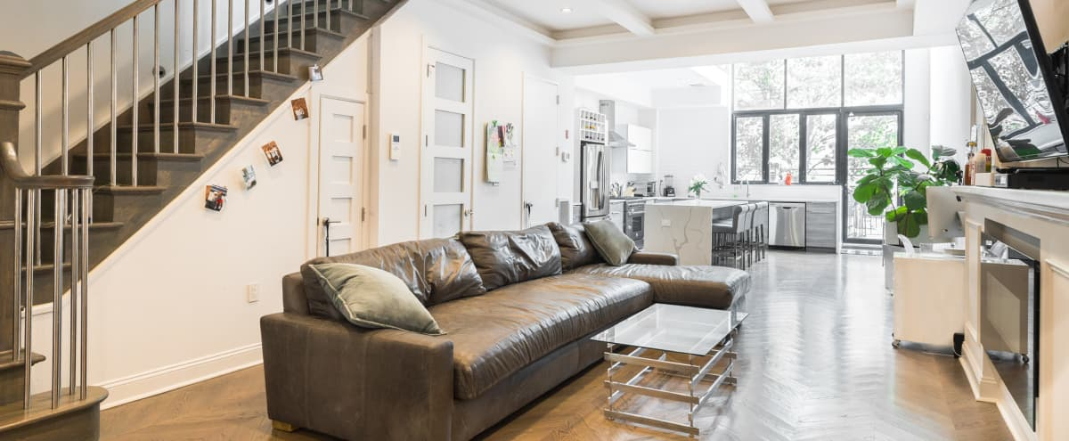 Modern & Spacious Multi-Purpose Brooklyn Townhouse with High Ceilings in Brooklyn Hero Image in Bedford-Stuyvesant, Brooklyn, NY