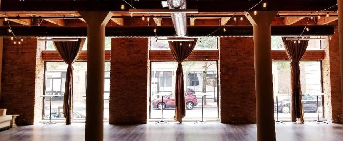 West Loop Chic Industrial Loft in Chicago Hero Image in Near West Side, Chicago, IL
