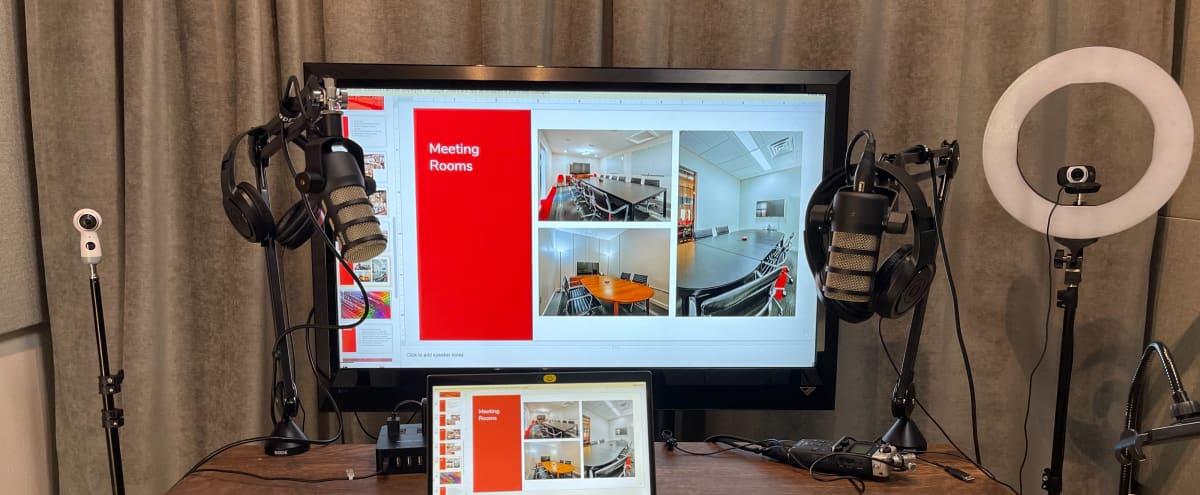 Clean Minimal Podcast Video Room in Austin Hero Image in Zilker, Austin, TX