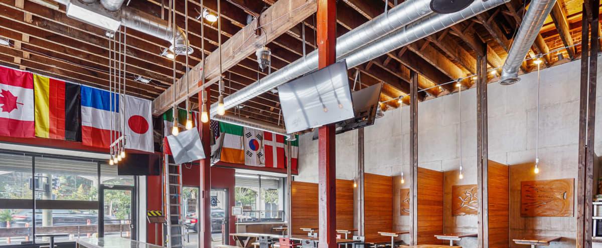 Rustic Modern Gastropub Restaurant / Sports Bar in Los Angeles Hero Image in Skid Row, Los Angeles, CA