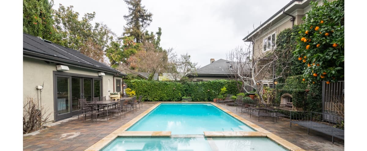 Executive Venue with Lush Container Gardens, Pool, Spa and Cabana, Private Fire-Pit and Outdoor Fireplace in San Jose Hero Image in Central San Jose, San Jose, CA