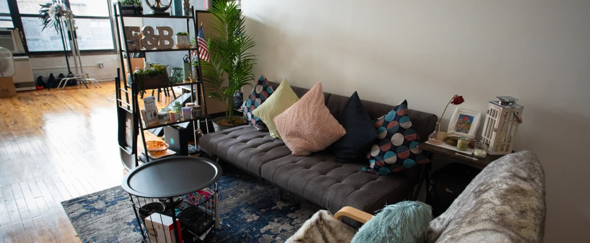 Boutique Studio ideal for small parties- only 8 mins from L Train in Brooklyn Hero Image in East Williamsburg, Brooklyn, NY