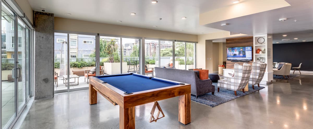 Beautiful Indoor/Outdoor Lounge Right Off Denny Park In South Lake Union! in Seattle Hero Image in South Lake Union, Seattle, WA