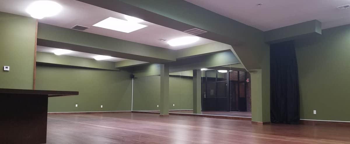 Ironbound Studio Loft With Truly OLIVE Green Walls With An Amazing Ambiance. Very Spacious Location. That Also Contains Great Lighting With Phenomenal Surround Sound. in Newark Hero Image in Ironbound District, Newark, NJ