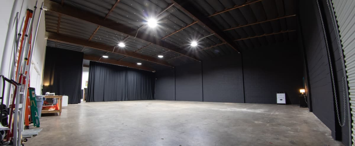 Black Walls - 4,000+ sq. ft Production Studio Warehouse w/ High Ceilings and Equipment for Rent in Van Nuys Hero Image in North Hills West, Van Nuys, CA