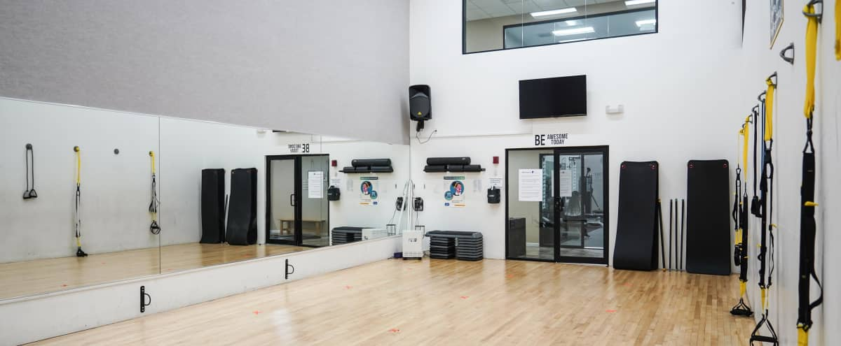 Fitness Studio with 8 TRX's along the wall. in New Rochelle Hero Image in undefined, New Rochelle, NY
