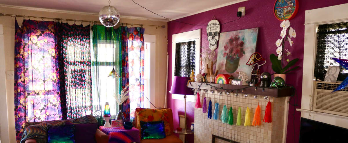 Beautiful Craftsman Home With Eclectic Psychedelic 70s Retro Décor In A Quaint Historic Neighborhood in Long Beach Hero Image in Carroll Park, Long Beach, CA