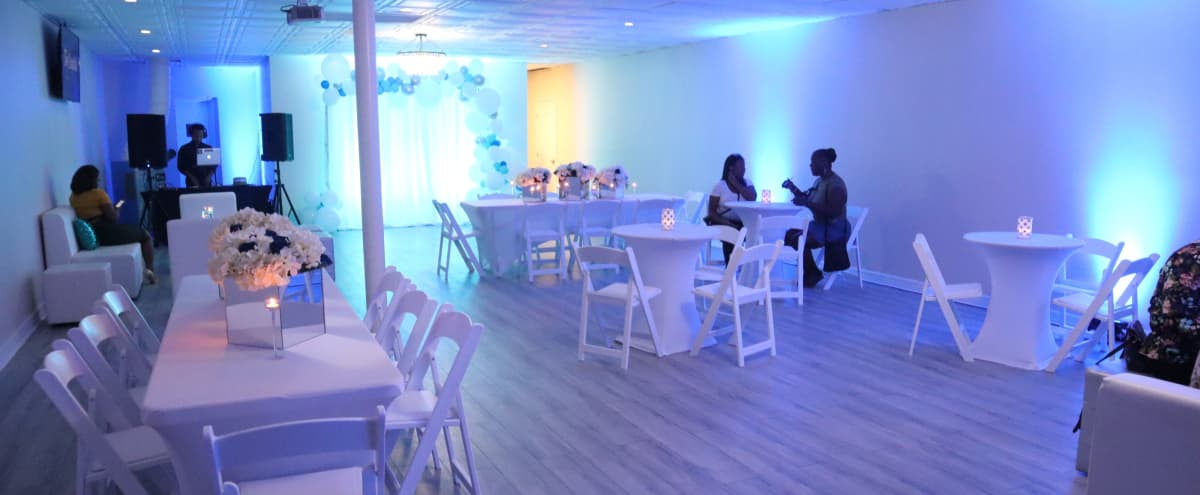 Multi-purpose space with an open floor plan.  It is well suited for Birthday Party, Baby shower, lectures, conferences, film screenings, trade fairs, receptions, and any other event that benefits from a flexible space. in Houston Hero Image in Gulfgate / Pine Valley, Houston, TX