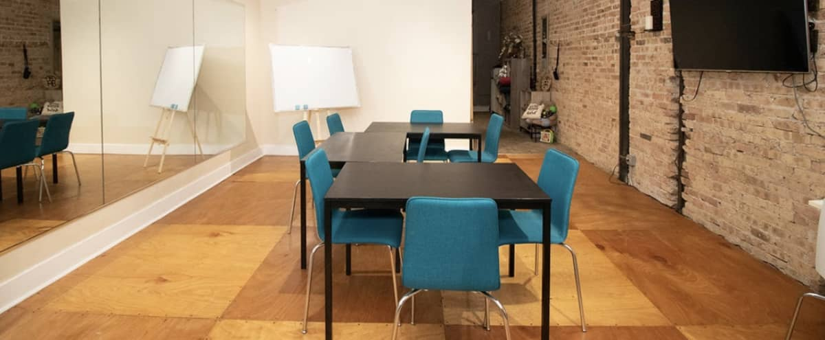 A downtown, urban blend of classic Forest Park.  Featuring an open floor plan, exposed brick, event location and studio space centrally placed for any occasion on Madison St. in Forest Park Hero Image in undefined, Forest Park, IL