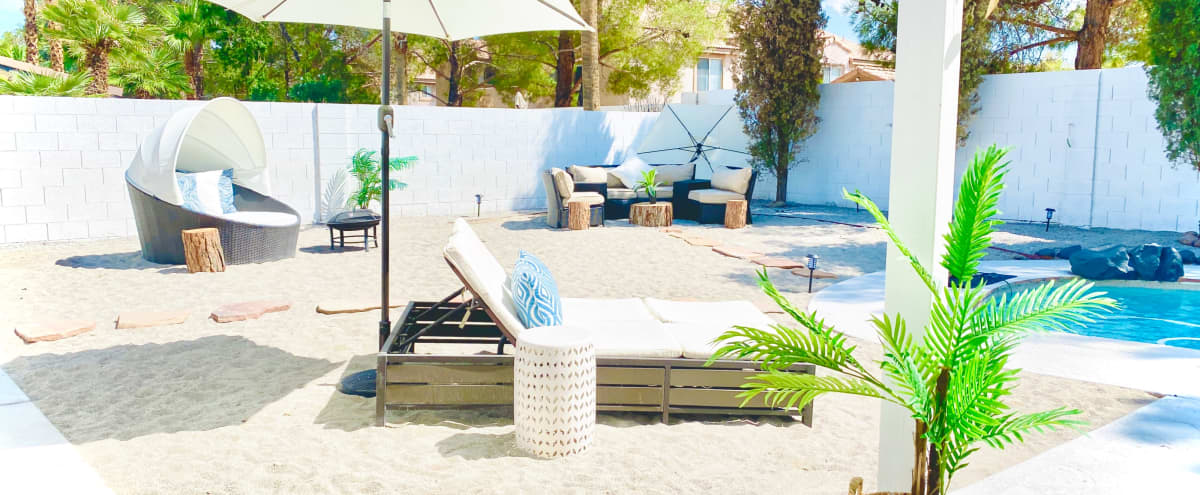 Modern Bohemian Bali-Inspired Tropical Home in Las Vegas Hero Image in Sawtelle, Las Vegas, NV
